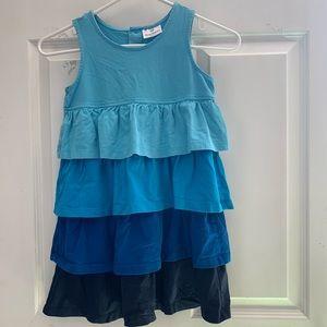 Hanna Andersson Blue Twirl Tank Dress size 120 🌎